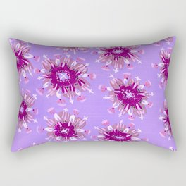 Plum Christie Rose Rectangular Pillow