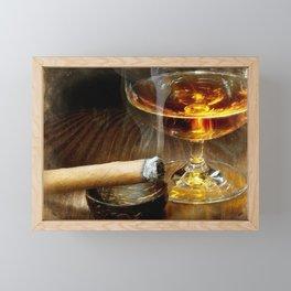 Cigar And Cordial Painting Cigars Framed Mini Art Print