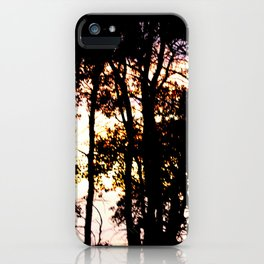 Prairie trees at Sunset iPhone Case