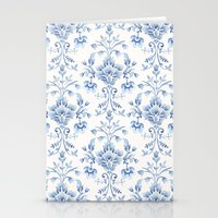 damask Stationery Cards featuring Damask... by Catherine Ann Lewis