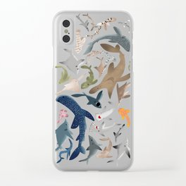 "FINconceivable Still ""Sharks"" Clear iPhone Case"