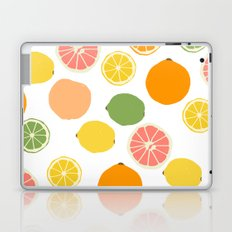Orange Grapefruit Lemon Lime Citrus Pattern Laptop & iPad Skin
