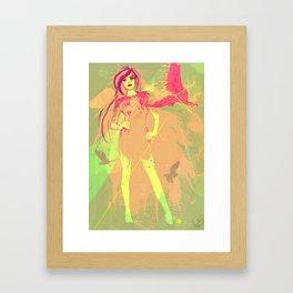 girl tattoo Framed Art Print