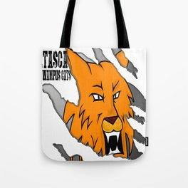 Wampus Cat/ Black Font Tote Bag