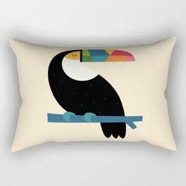 Rainbow Toucan Rectangular Pillow