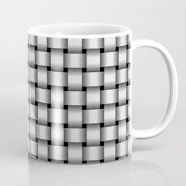 Small Pale Gray Weave Coffee Mug