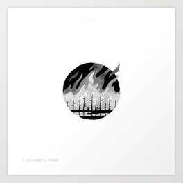 2017 Inktober #10 Art Print