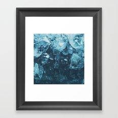 Aquamarine Gem Dreams Framed Art Print