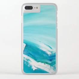 Turquoise Compositon V Clear iPhone Case