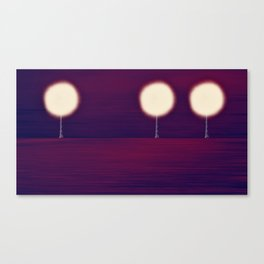 Lighted Trees Canvas Print