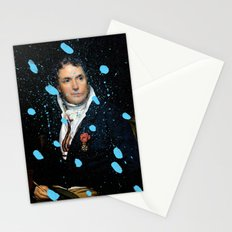 Brutalized Portrait of a Gentleman Stationery Cards