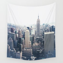 New York City and the Empire State Building Wall Tapestry