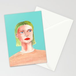 Portrait of a Female Stationery Cards
