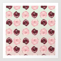 donuts Art Prints featuring Donuts!! by Oh Monday