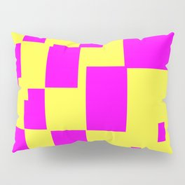 Egg Yellow-Fuchsia City Scapes Abstract Pillow Sham
