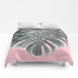 Monstera Finesse #1 #tropical #decor #art #society6 Comforters