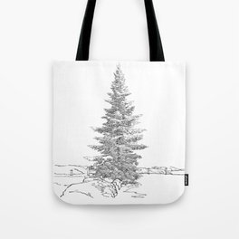 North American fir tree  Tote Bag