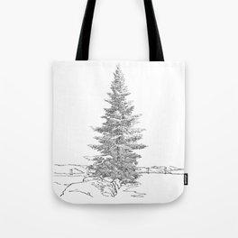 North American fir tree  Tote Bag