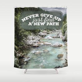 a new path Shower Curtain