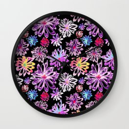 Painted Floral II Wall Clock