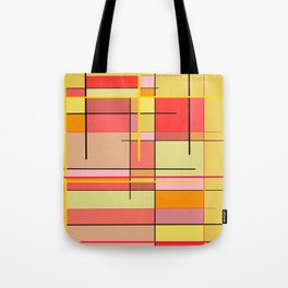 color and lines Tote Bag