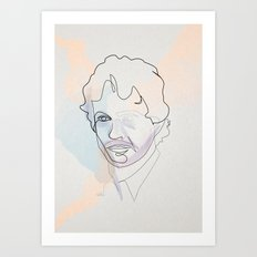 One Line Special Agent Will Graham Art Print