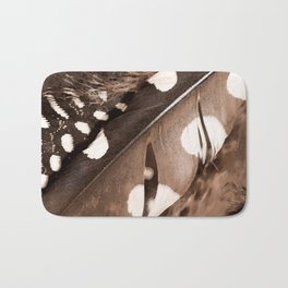 Beautiful Feathers On A Dark Brown Background #decor #buyart #society6 Bath Mat