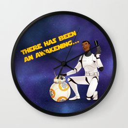 Finn and BB8 Wall Clock