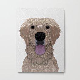 Golden Labrador Retriever Portrait Metal Print