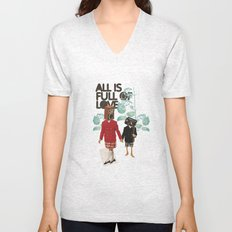ALL IS FULL OF LOVE Unisex V-Neck