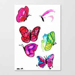 Kawaii Butterflies Canvas Print