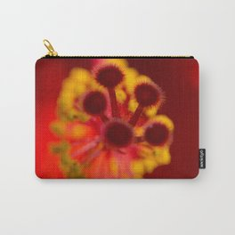 hibiscus rosa sinensis  heart of a red hibiscus flower Carry-All Pouch
