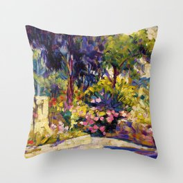 The Flowered Terrace - Digital Remastered Edition Throw Pillow