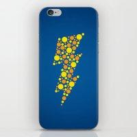 lightning iPhone & iPod Skins featuring Lightning by Danielle Podeszek