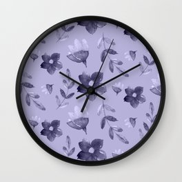 Watercolour Floral Pattern IV Wall Clock