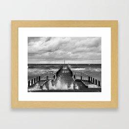 Frankston Pier in a storm Framed Art Print