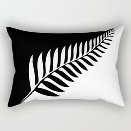 Silver Fern of New Zealand Rectangular Pillow