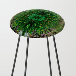 Cocoplum and Cattails op nature pattern Counter Stool