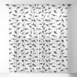 Dino Silhouettes Sheer Curtain