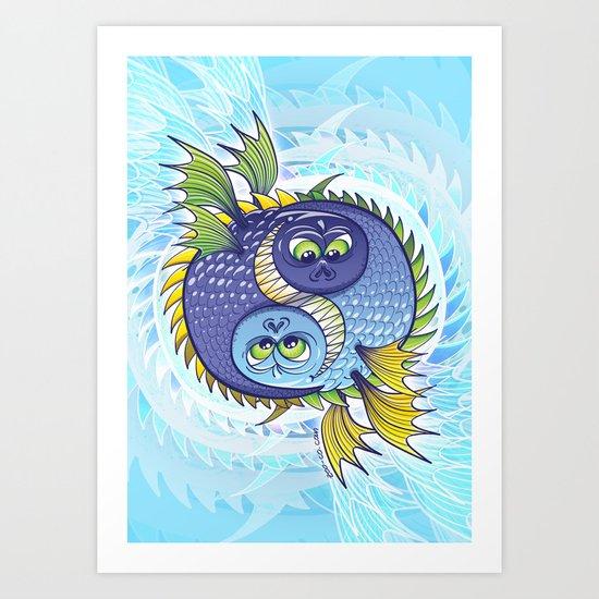Monstrous Yin Yang Art Print