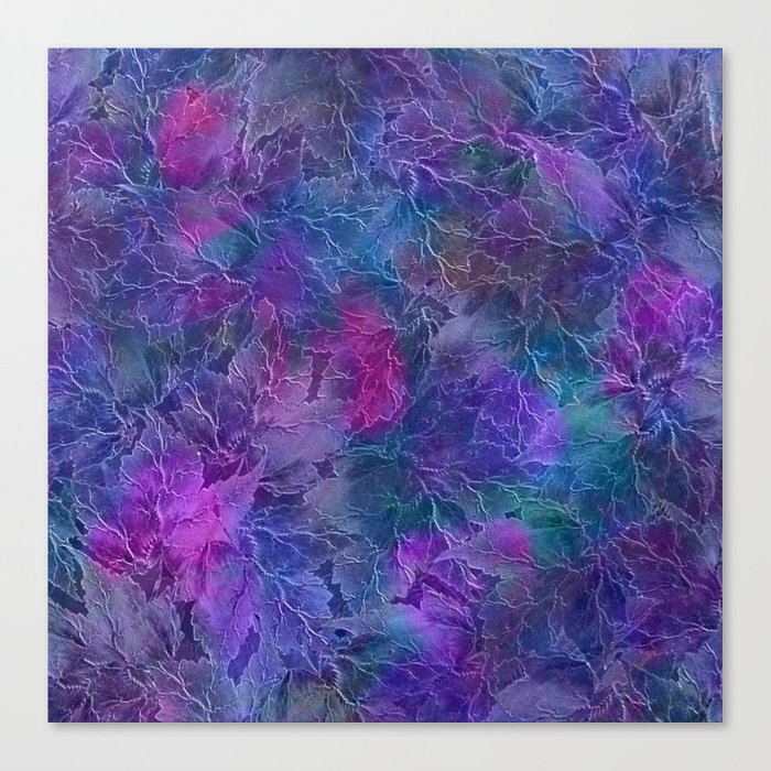Frozen Leaves 5 Canvas Print