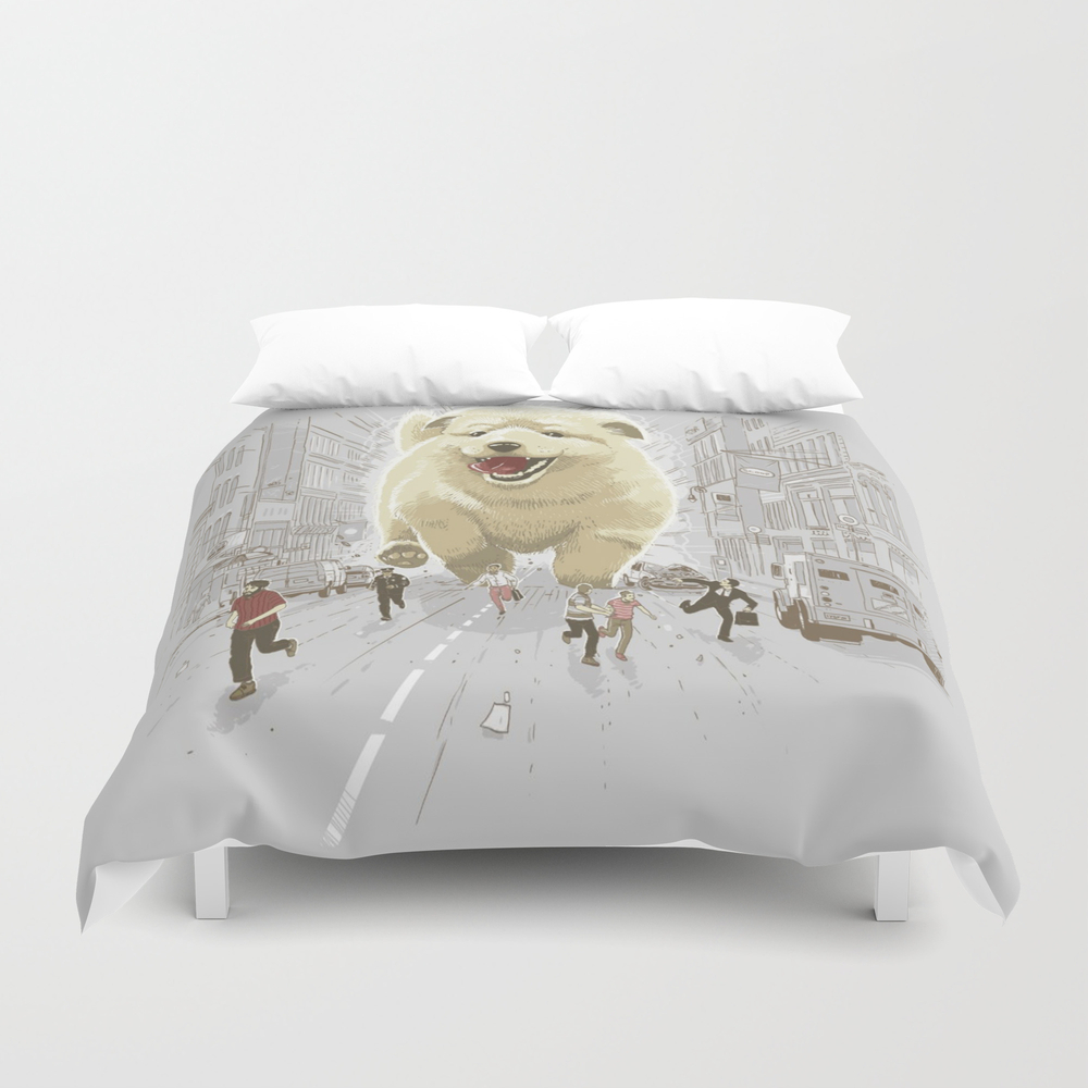 Attack Of The Cutest Monster Duvet Cover by Lucasal8 DUV8886221