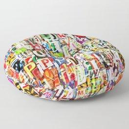 Letters Floor Pillow