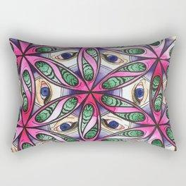 Blue Third Eye Flower of Life Rectangular Pillow