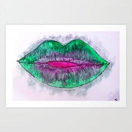 Lipsick Art Print