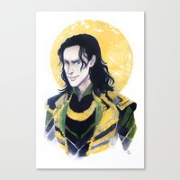 enerjax Canvas Prints featuring Loki of Asgard by enerjax