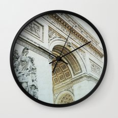 Letters From Triomphe - Paris Wall Clock