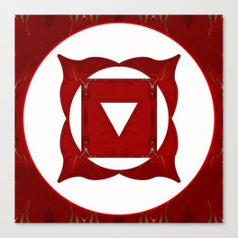 Go Deep Abstract Chakra Art  Canvas Print