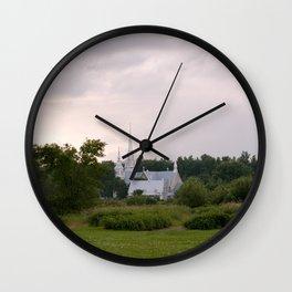 Countryside Church Wall Clock