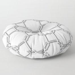 Turandot Chinoiserie Lattice Chromium Floor Pillow